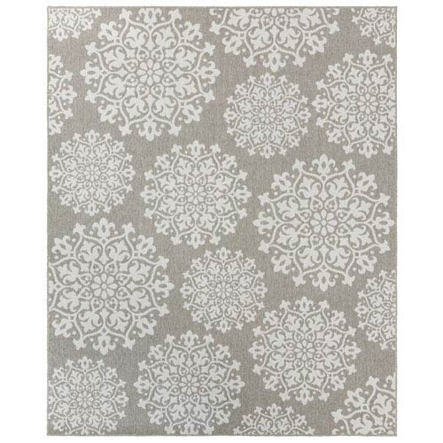 Oasis Sanibel Silver Rectangular: 5 Ft. 3 In. x 7 Ft. 6 In. Rug