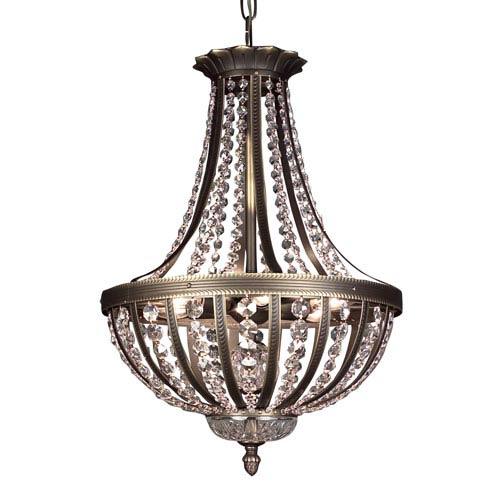 Terragona Roman Bronze Six Light 16-Inch Pendant with Crystalique Plus Accents