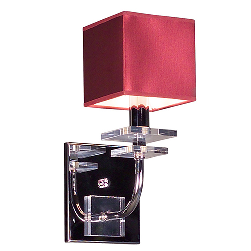 Classic Lighting Quadrille Burgundy One-Light Wall Sconce