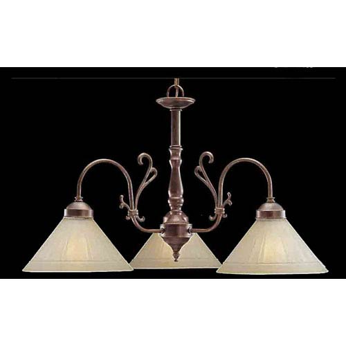 Clic Lighting Biltmore English Bronze Three Light Chandelier