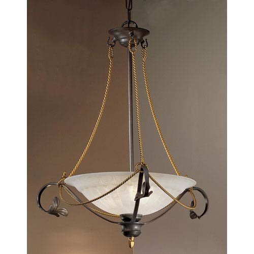 Classic Lighting Verona Bronze Three-Light Pendant