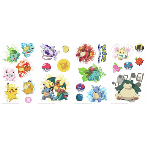 Roommates Decor Iconic Pokemon Peel and Stick Wall Decals