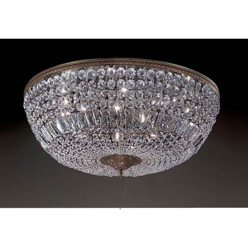 Crystal Baskets Roman Bronze Ten-Light Flush Mount