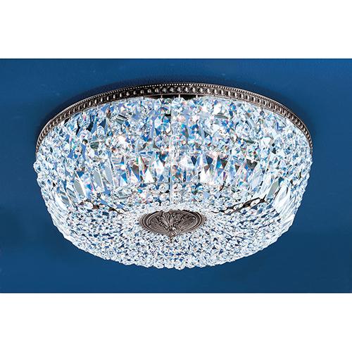 Crystal Baskets Millennium Silver Eight-Light Flush Mount