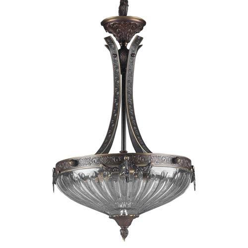 Classic Lighting Warsaw Roman Bronze Three-Light Pendant