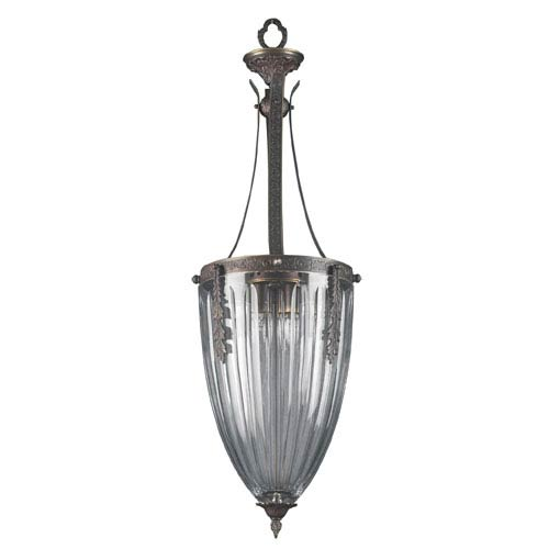 Classic Lighting Warsaw Roman Bronze Four-Light Pendant