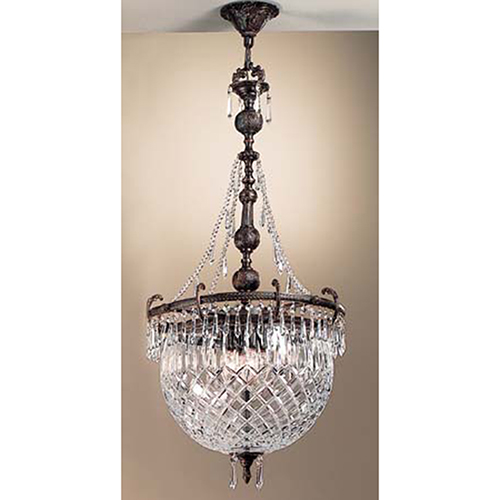 Classic Lighting Waterbury Oxidized Bronze Four-Light Pendant
