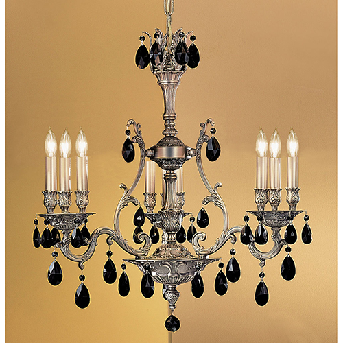 Classic Lighting Majestic Aged Bronze Nine-Light Chandelier