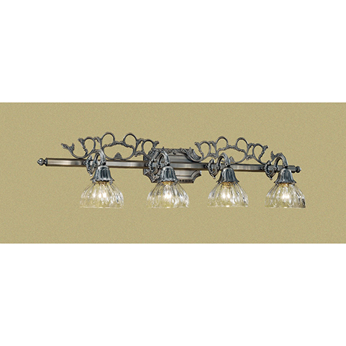 Majestic Aged Pewter Four-Light Vanity