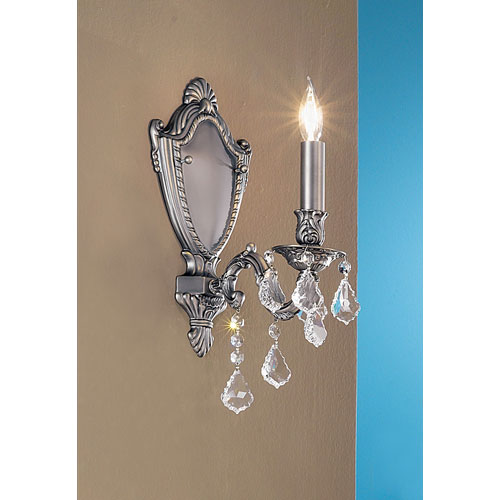Chateau Imperial Aged Pewter One-Light Wall Sconce