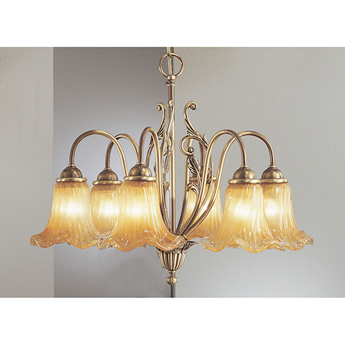 Classic Lighting Venezia Dark Bronze with Polished Highlights Six-Light Chandelier