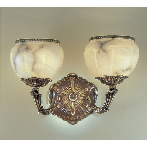 Alexandria Victorian Bronze Two-Light Wall Sconce