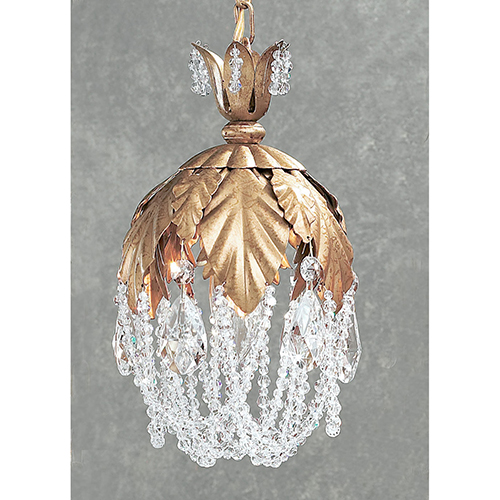 Petite Fleur Olde Gold One-Light Mini Pendant