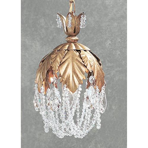 Classic Lighting Petite Fleur Olde Gold One-Light Mini Pendant