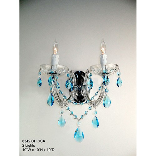Classic Lighting Rialto Traditional Chrome Two-Light Wall Sconce