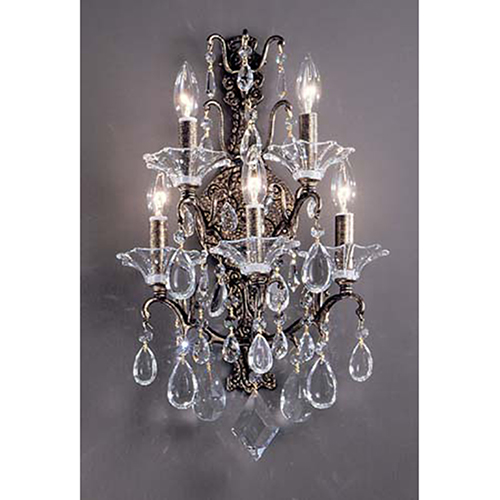 Garden of Versailles Antique Bronze with Gold Patina Five-Light Chandelier