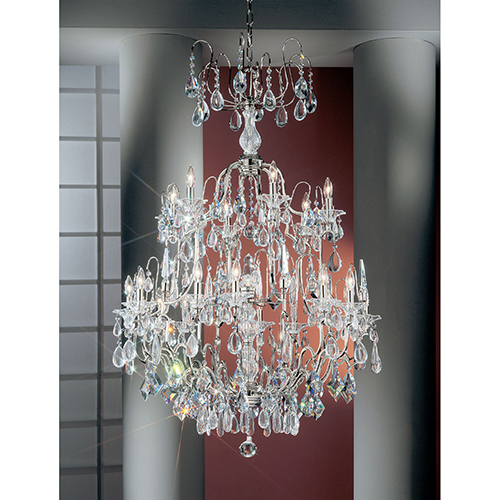 Garden of Versailles Chrome Nineteen-Light Chandelier