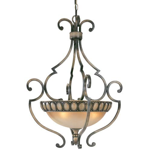 Westchester Honey Rubbed Walnut Four-Light Pendant