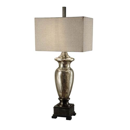 Crestview Collection Antique Mercury Glass Table Lamp Cvabs561