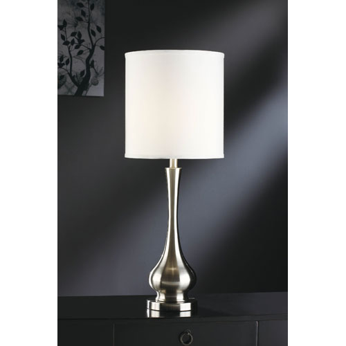Crestview Collection Brushed Nickel One-Light Table Lamp