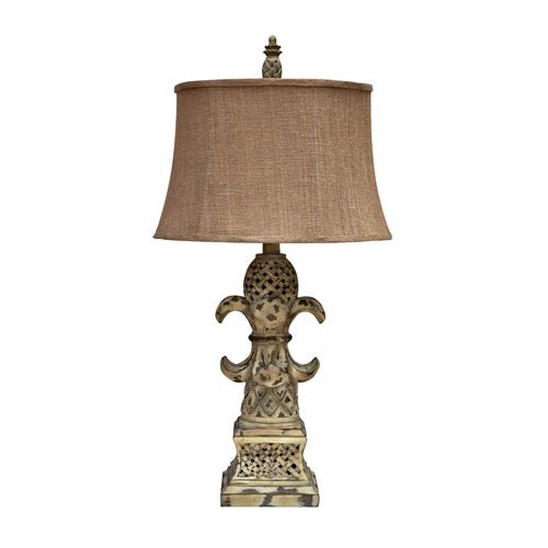 Resin Table Lamp With Reclaimed Wood Finish