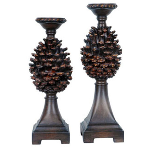 Pine Bluff Candleholders, Set of Two