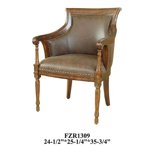 Crestview Collection Kensington Leather Chair