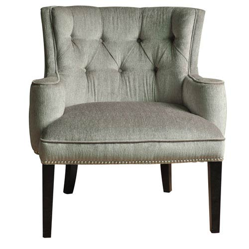 Crestview Collection Fifth Ave Textured Silver Nailhead Chair