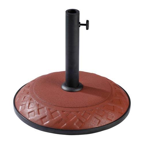 Compound Resin Basket Weave Umbrella Stand, Terra Cotta