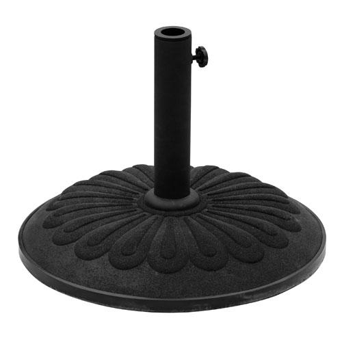 Sunflower Black Outdoor Resin Umbrella Stand
