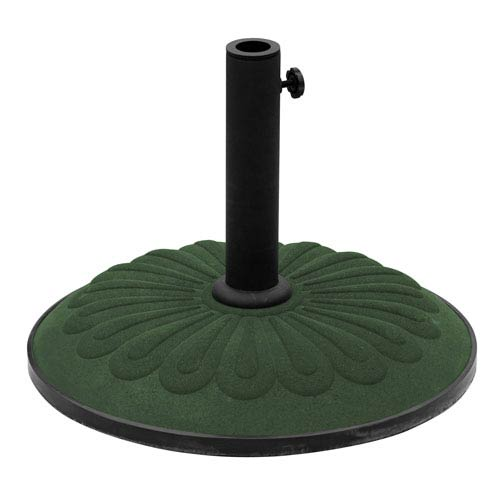 Resin Sunflower Umbrella Stand, Dark Green