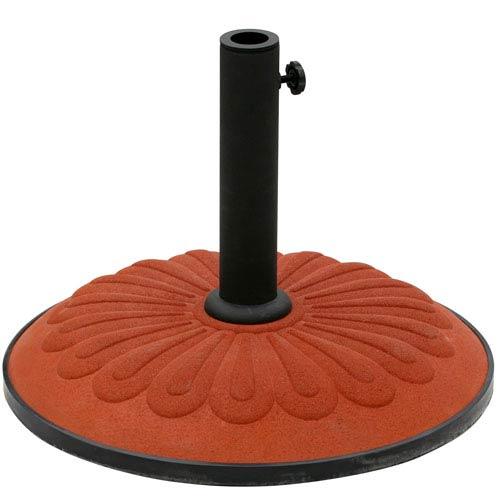 Resin Sunflower Umbrella Stand, Terra Cotta