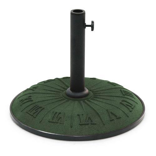 Resin Compound Roman Numeral Umbrella Stand, Dark Green