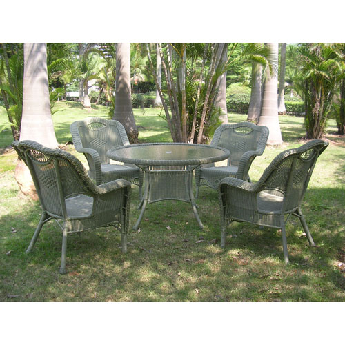 Riviera 5-Piece Outdoor Dining Group, Antique Moss