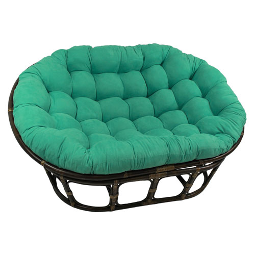 63x45-Inch Double Papasan with Micro Suede Cushion, Emerald