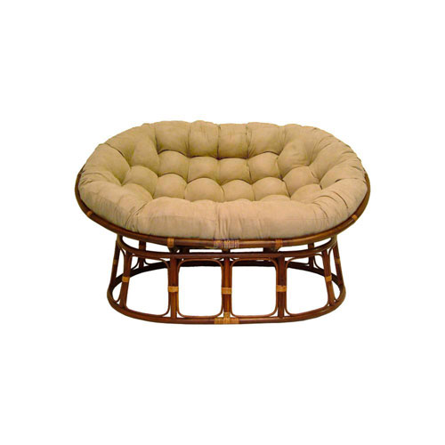 63x45-Inch Double Papasan with Micro Suede Cushion, Java