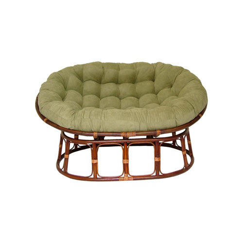 63x45-Inch Double Papasan with Micro Suede Cushion, Sage
