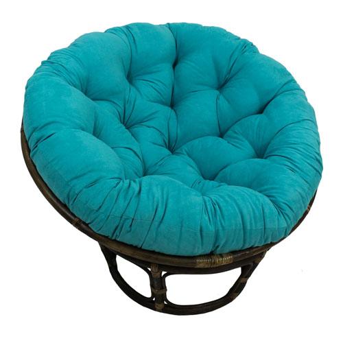 Rattan Papasan Chair with Micro Suede Cushion