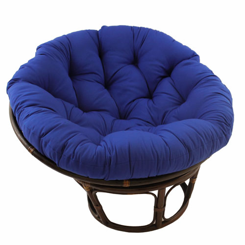 Astonishing Rattan Royal Blue Papasan Chair With Solid Twill Cushion Onthecornerstone Fun Painted Chair Ideas Images Onthecornerstoneorg