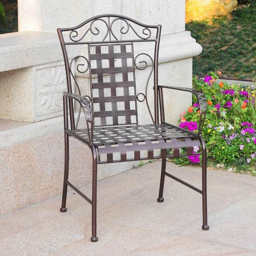 Mandalay Set of Two Iron Chairs