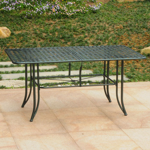 Mandalay Iron Outdoor 60-inch Dining Table, Verdi Green
