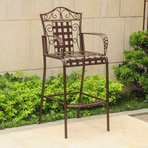 Set of 2 Mandalay Iron Bar Height Chair