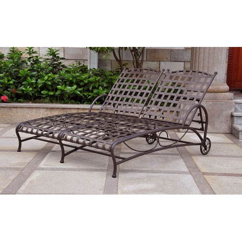 Santa Fe Nailhead Double Multi Position Chaise Lounge