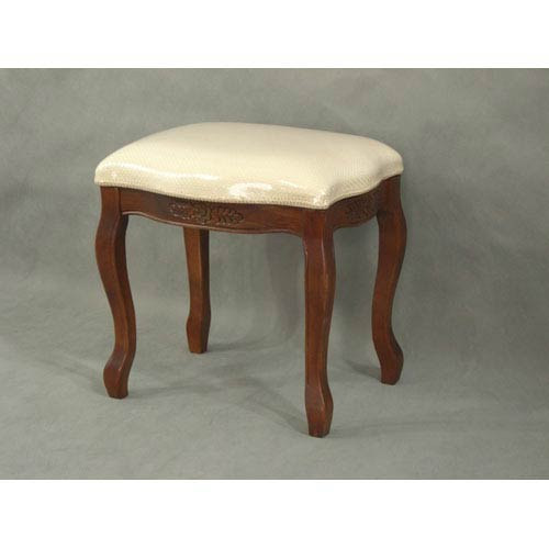 Wood Stool with Cushioned Top