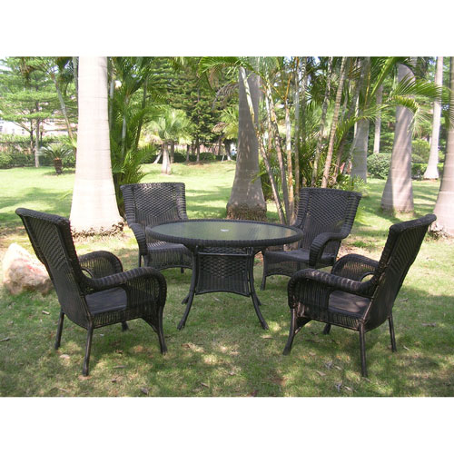 San Tropez 5-Piece Outdoor Dining Group, Antique Black