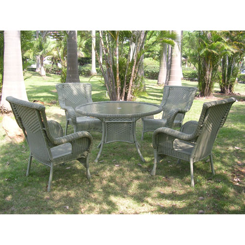 San Tropez 5-Piece Outdoor Dining Group, Antique Moss