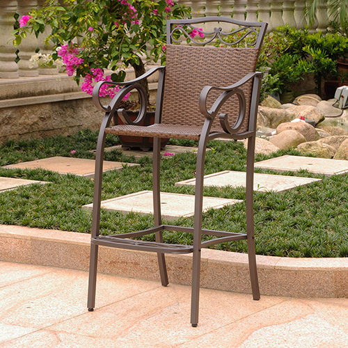Valencia Antique Brown Bistro Chairs, Set of Two