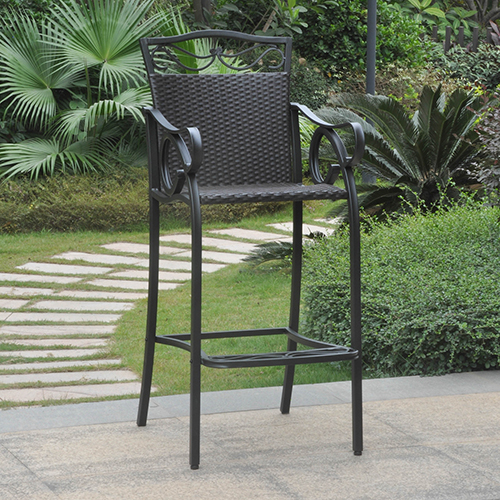 Valencia Black Bistro Chairs, Set of Two
