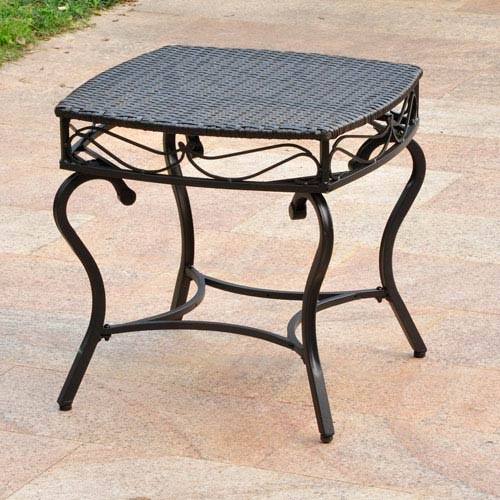 Valencia Resin Wicker/Steel Square Round Side Table