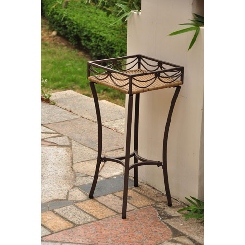 Valencia Honey Square Plant Stand